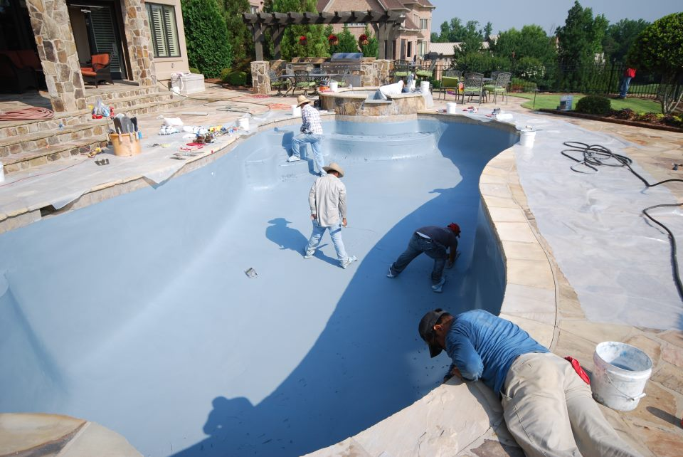 New pool deck repaired from Carolina Pool Plastering