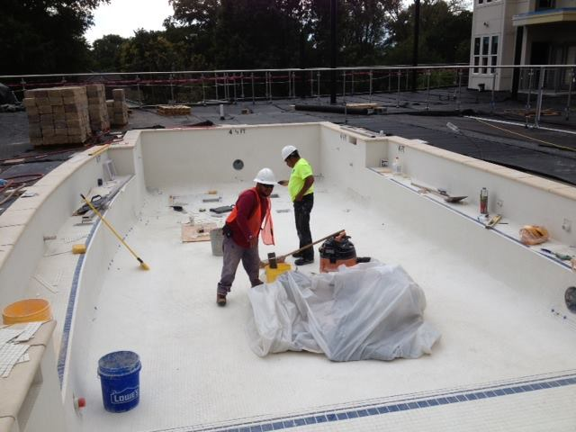 Pool builders doing pool installation  in Charlotte, NC