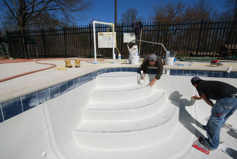 Pool tile installation process