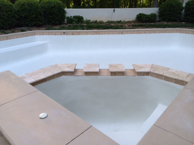 New deck installed in a swimming pool
