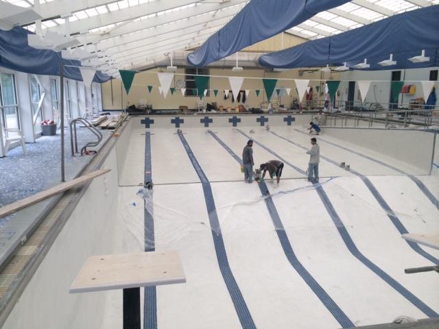 Swimming Pool Plastering Contractors : Pool tile installation upgrade carolina plastering