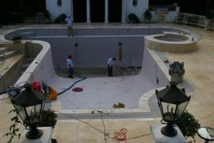swimming pool construction and renovation by pool contractors